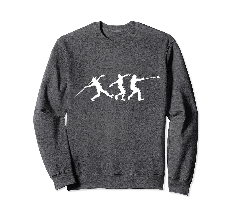 Hammerwurf Athlet T-Shirt Geschenk Diskuswurf Speerwurf Sweatshirt