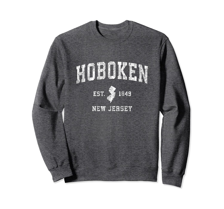 Hoboken New Jersey NJ Vintage Athletic Sports Design Sweatshirt