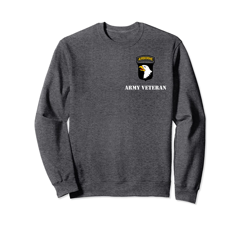 "101st Airborne Division Patch – White ""Army Veteran""  Sweatshirt"