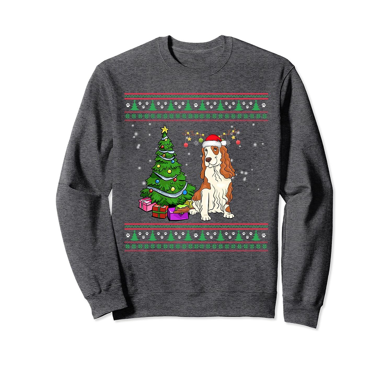 Merry Christmas Cocker Spanie Dog Ugly Sweatshirt-Awarplus