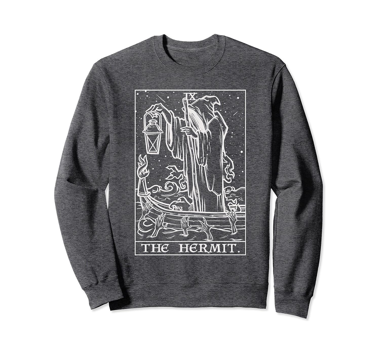 The Hermit Tarot Card Goth Halloween Grim Reaper Witch Gift Sweatshirt