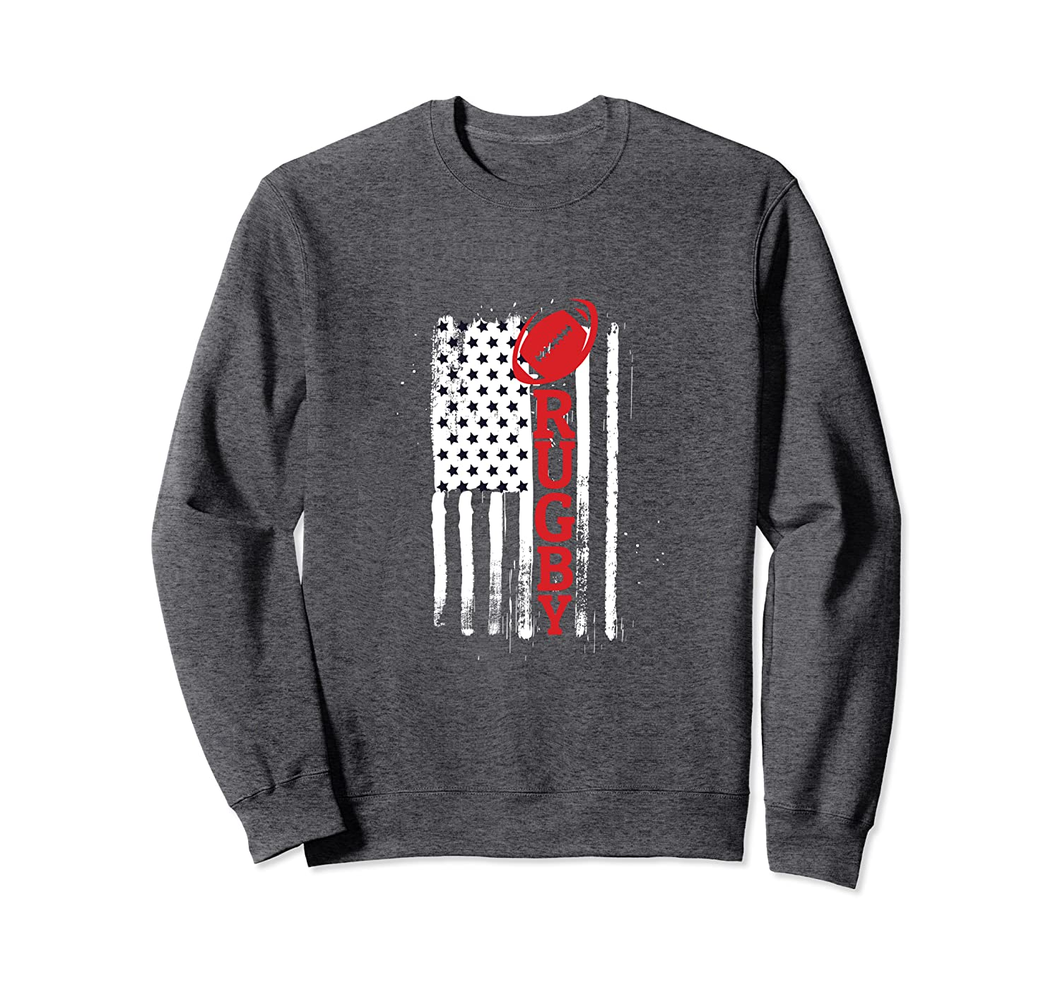 USA Flag Rugby Vintage Rugby Lover Cute Gift Sweatshirt