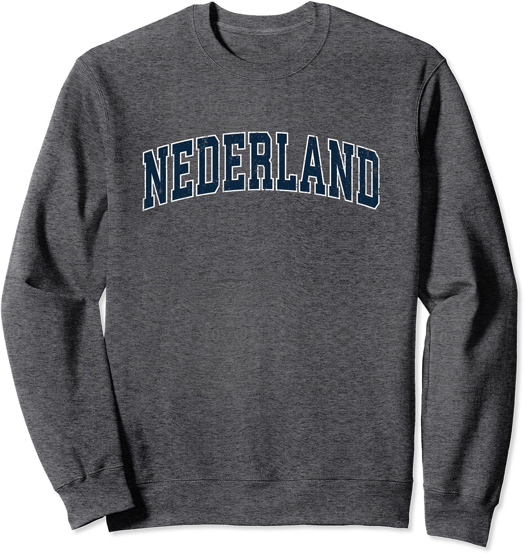 Nederland Texas TX Vintage Sports Design Navy Design Sweatshirt-TH