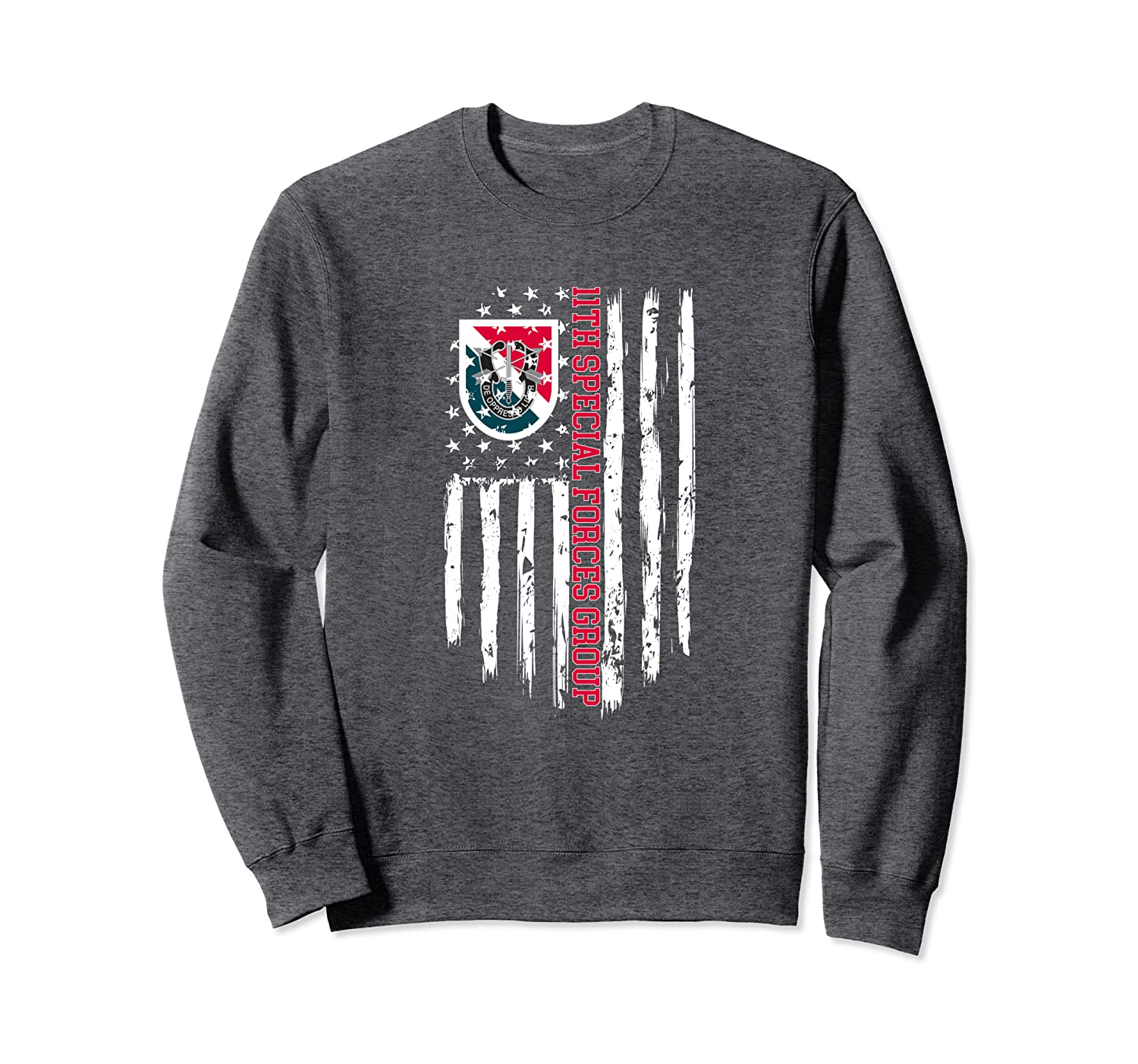 11th Special Forces Group (11th SFG) American Flag Sweatshirt