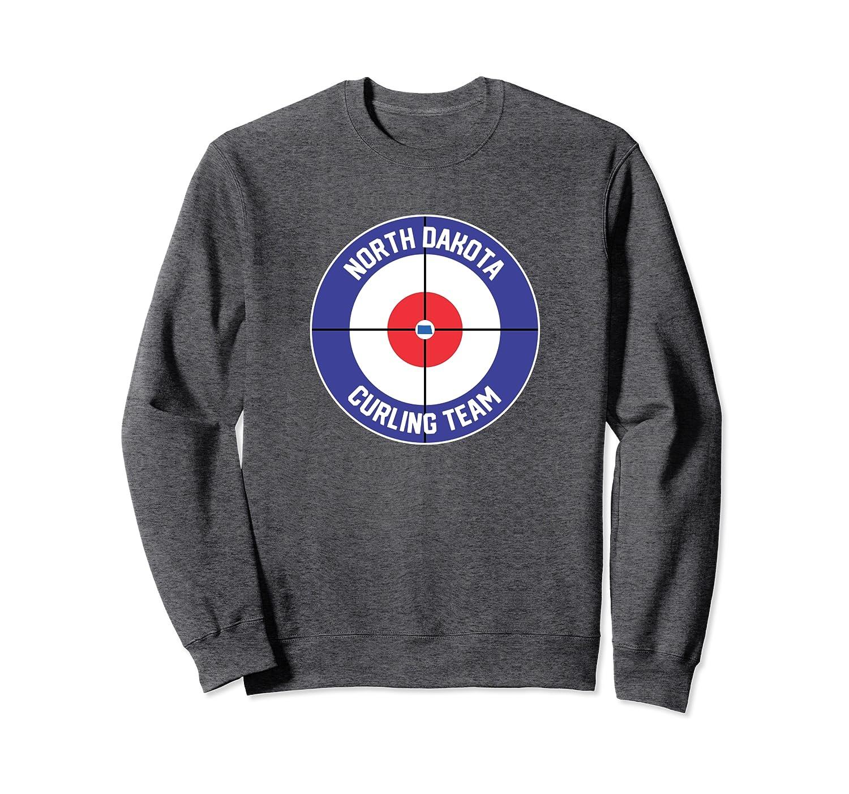 North Dakota Curling Team Sweep Rock ND State Outline Sweatshirt Unisex Tshirt