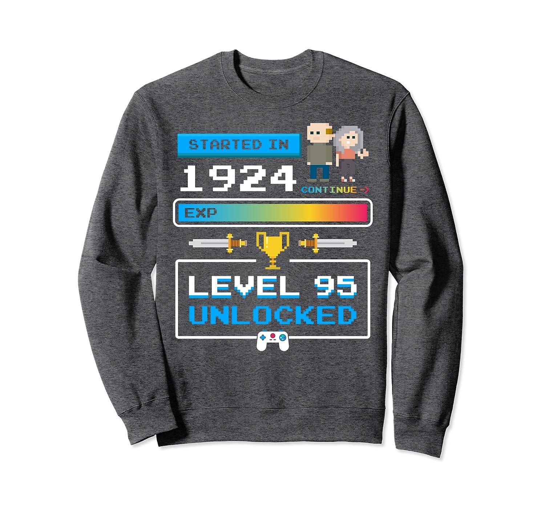 1924 95 Year Old Birthday Video Games 95th Birthday Gamer Sweatshirt-TH