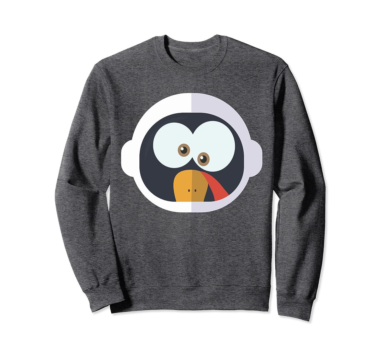 Thanksgiving Shirt Boys Girls Astronaut Funny Turkey Costume Sweatshirt