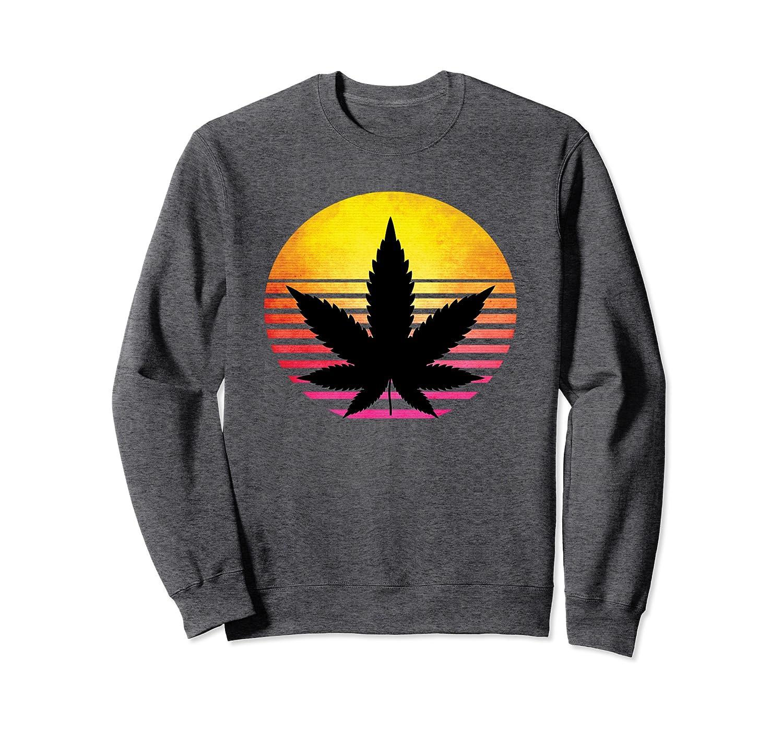 Marijuana Vintage with USA flag Weed Smoker and Cannabis Sweatshirt-Cotoa