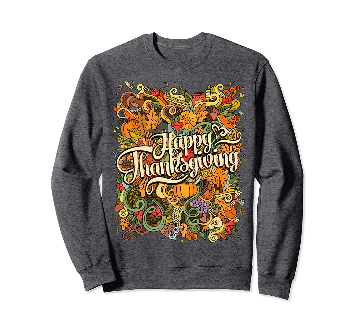 Happy Thanksgiving Day Hello Fall Harvest Parade Turkey Day Sweatshirt