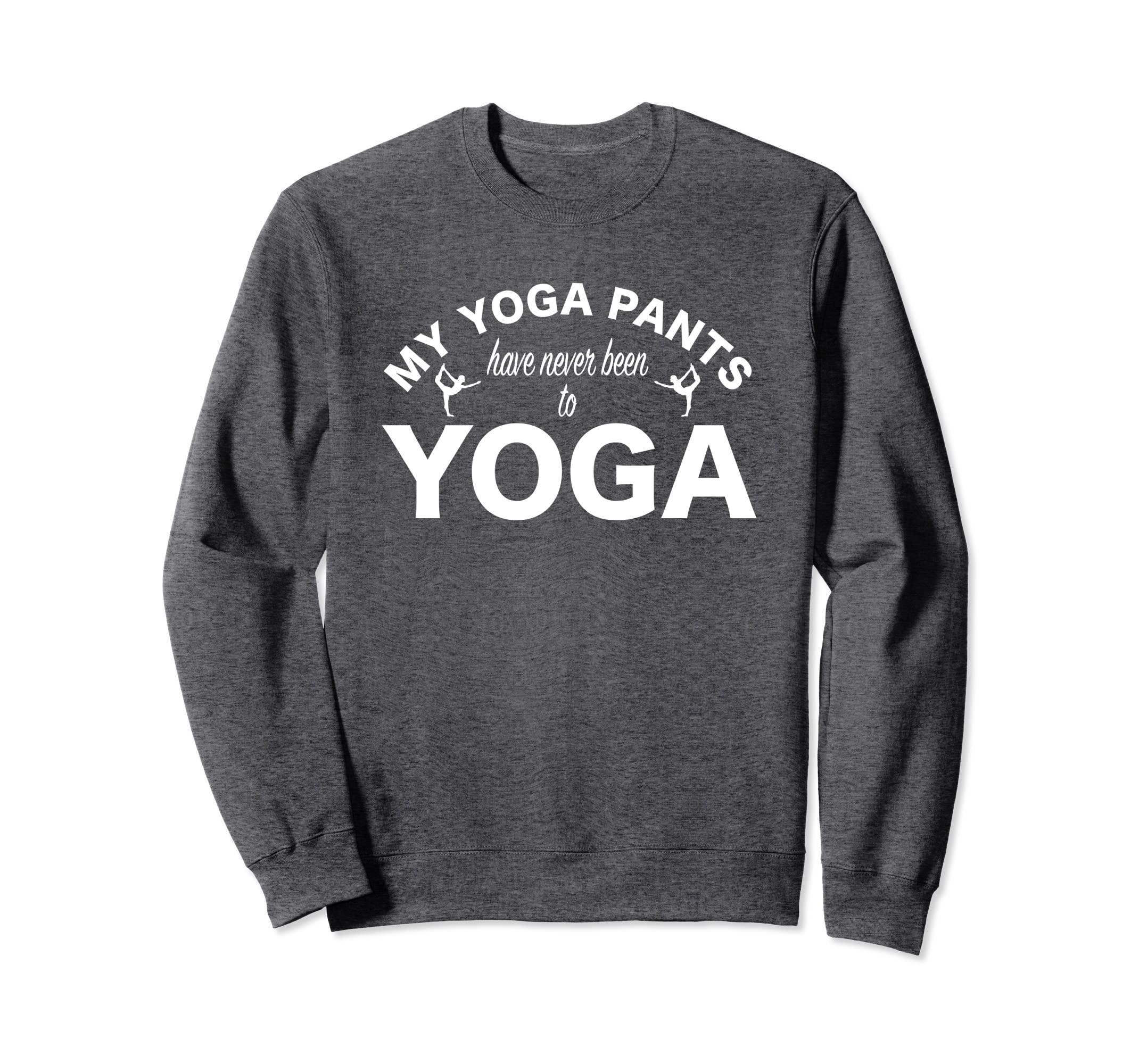 Amazon.com: Funny Yoga Pants Sweatshirt Cute Yoga Shirt ...