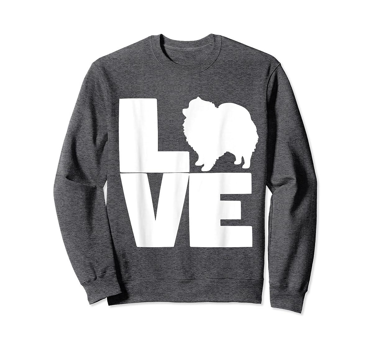 I Love Pomeranians Pom Mom or Dad Pet Lover T Shirt-Sweatshirt-Dark Heather