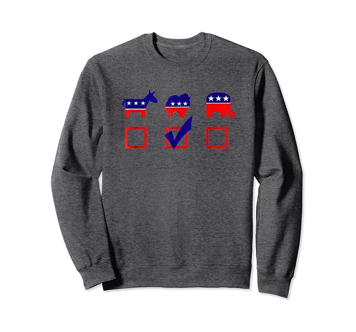 Vote Pomeranian For President T-shirt Cool Dog Lover Shirt-Sweatshirt-Dark Heather