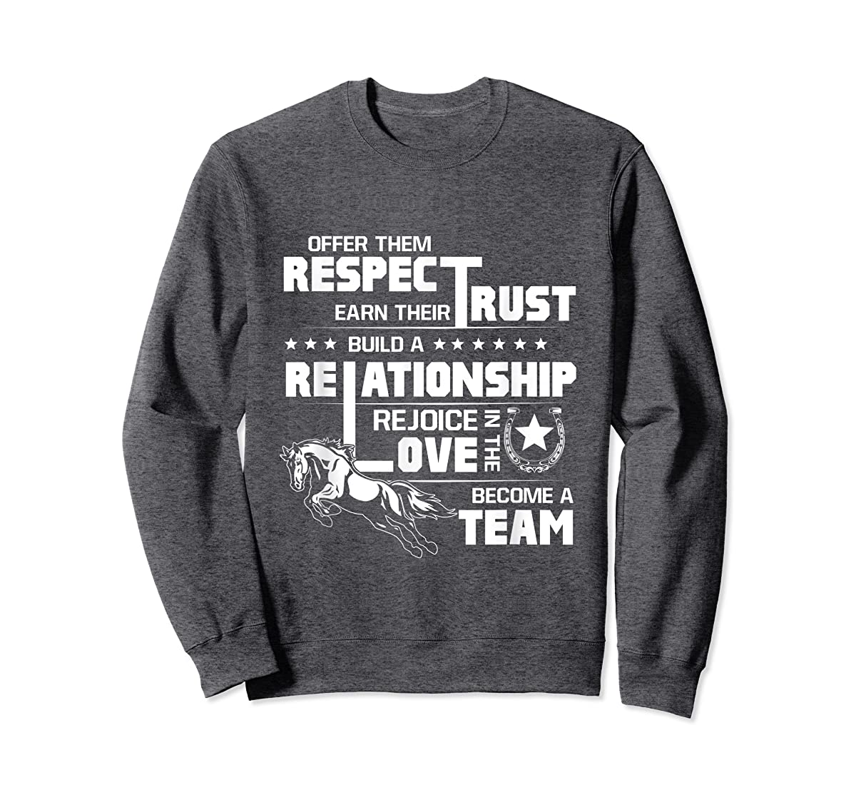 Cool Horse T-shirt with great quote for equestrian lover tee-Sweatshirt-Dark Heather