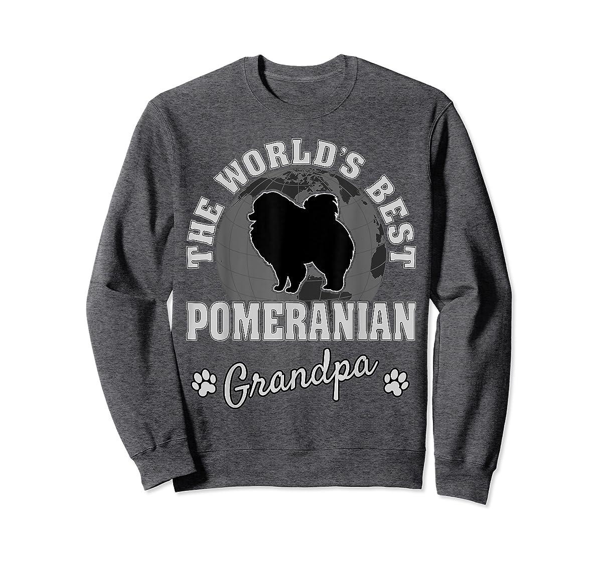 World's Best Pomeranian Grandpa TShirt-Sweatshirt-Dark Heather