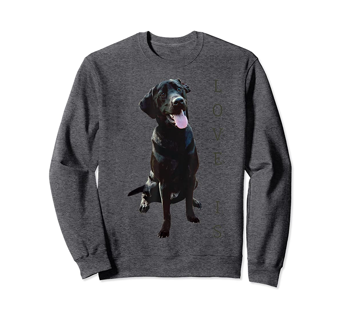 Labrador Retriever Shirt Women Men Kids Black Lab Dog Mom-Sweatshirt-Dark Heather