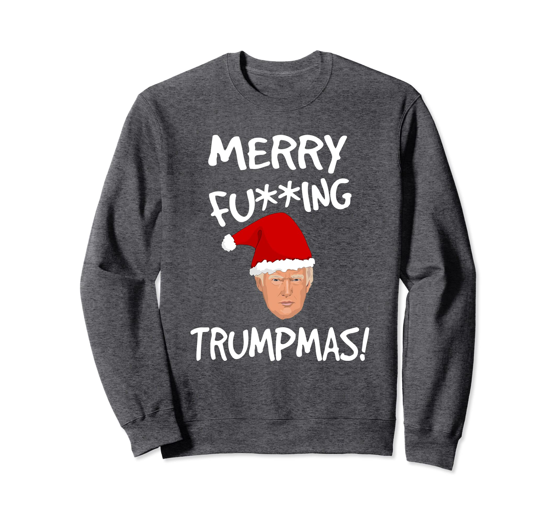 5a1a340c965 Amazon.com  Merry F ing Trumpmas Funny Trump Sweater Gift  Clothing