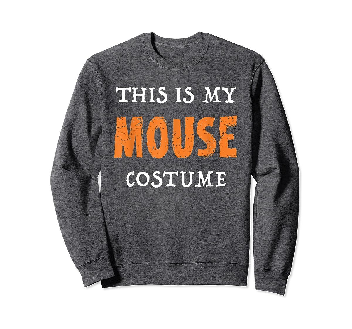 Funny This Is My Mouse Costume Halloween  T-Shirt-Sweatshirt-Dark Heather