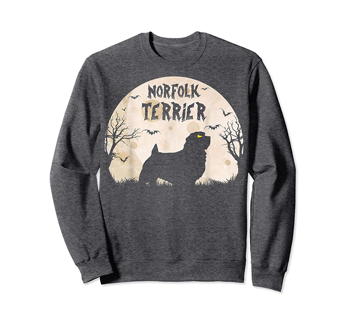 Halloween Horror Norfolk Terrier  T-Shirt-Sweatshirt-Dark Heather