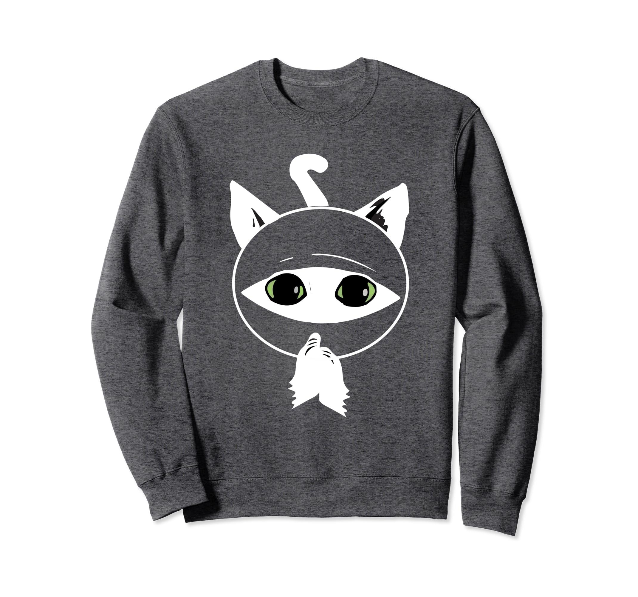 Amazon.com: Kawaii Cat Ninja Gift Sweatshirt Shaolin Kung Fu ...