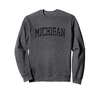 17daa772 Image Unavailable. Image not available for. Color: Vintage Michigan Crewneck  Sweatshirt ...