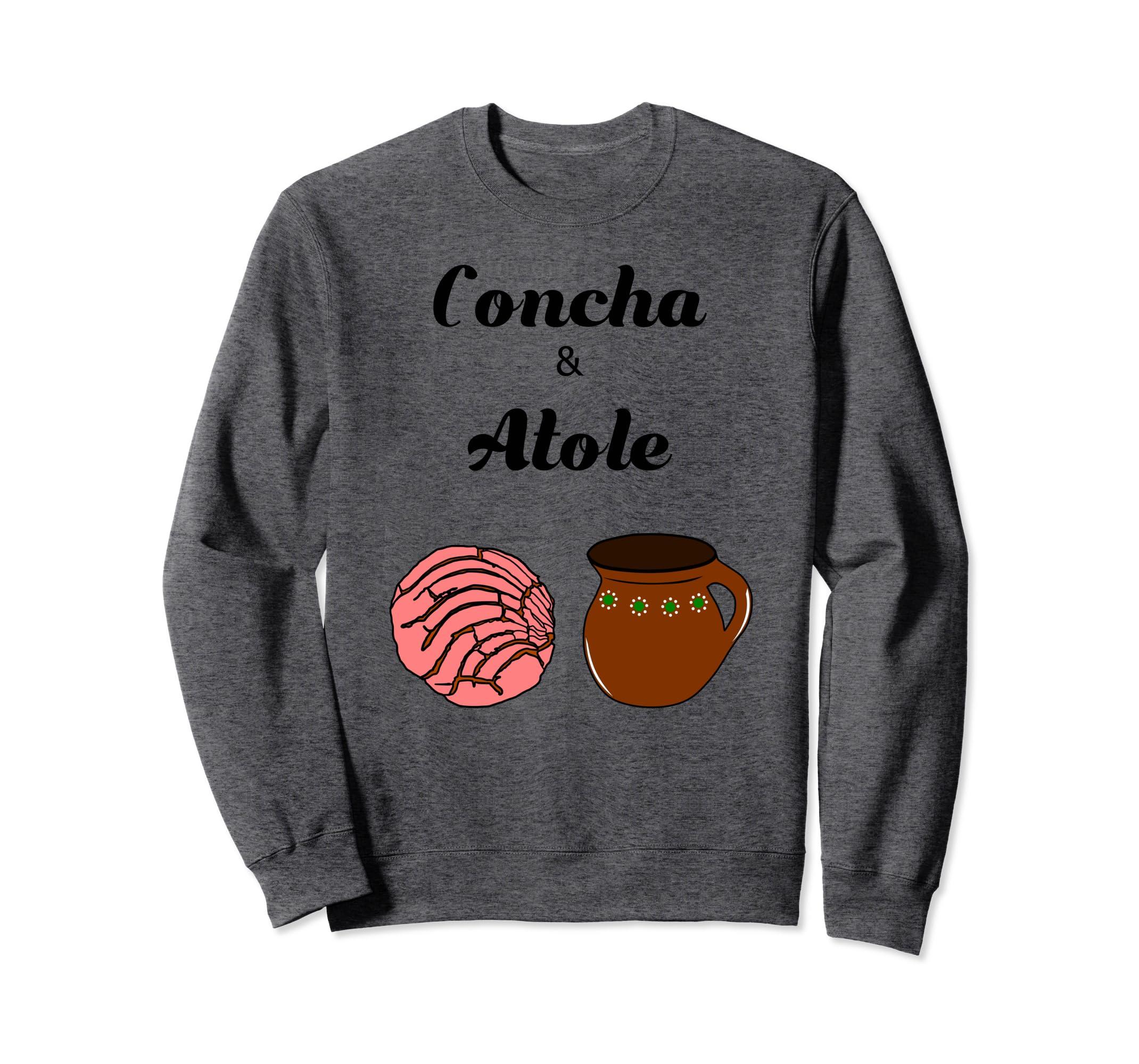 Amazon.com: Concha & Atole Mexican Bread Beverage Pan Dulce Sweater: Clothing