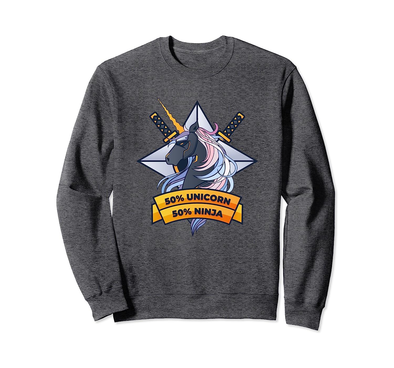Amazon.com: Unicorn Ninja Sweatshirt - Cute Awesome Magical ...
