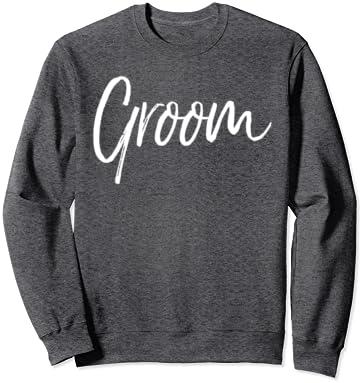 Mother Of The Groom Wedding Bride Matrimony Present Gift Cursive Idea Marriage Wife Bridal Men/'s Crew Neck Sweater SF-0348