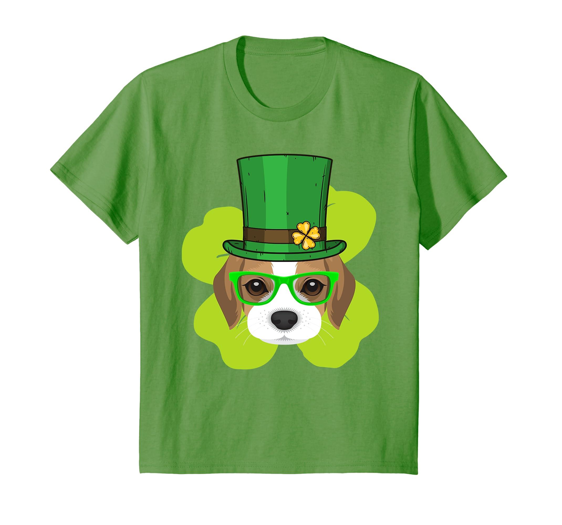 Beagle Dog Saint Patricks T shirt