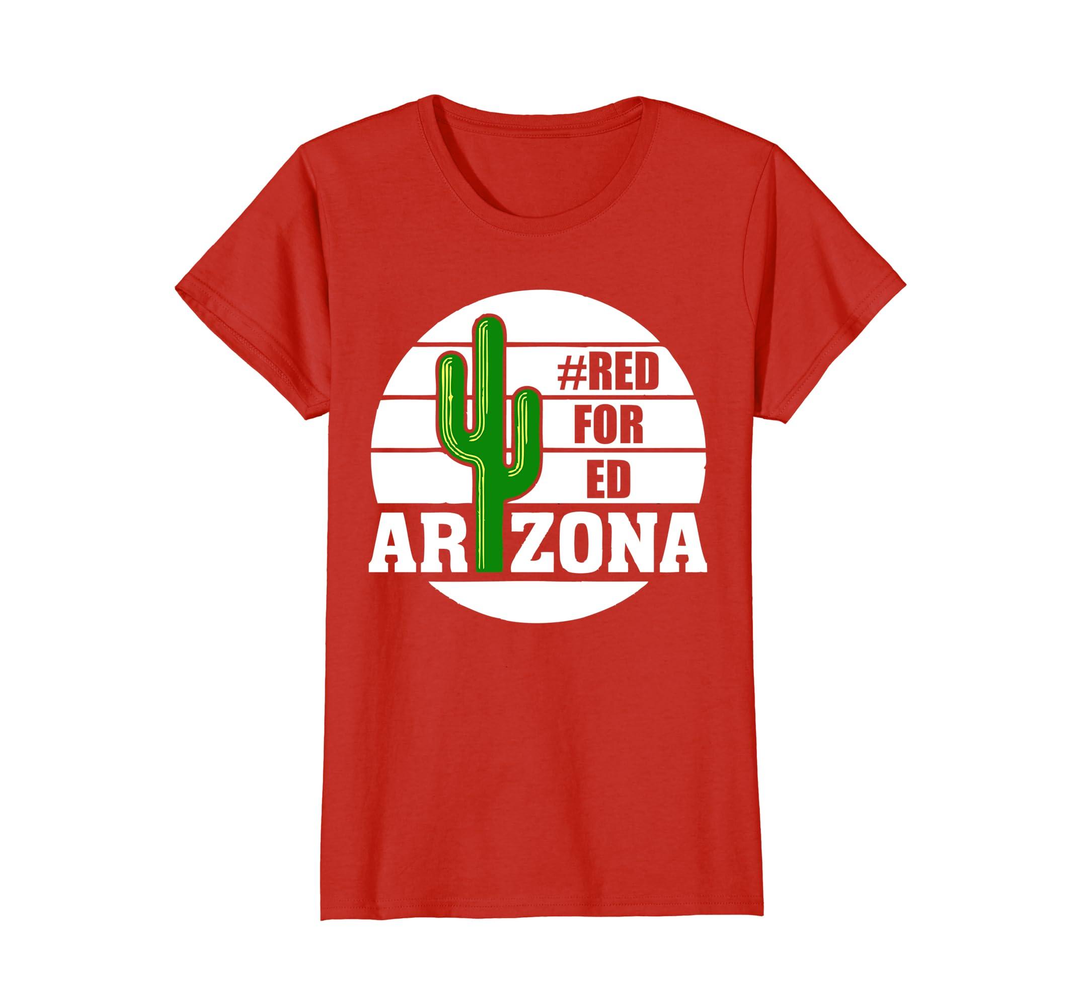 #Red for Ed Arizona T Shirt Cactus Women Men Kids Tee-Awarplus