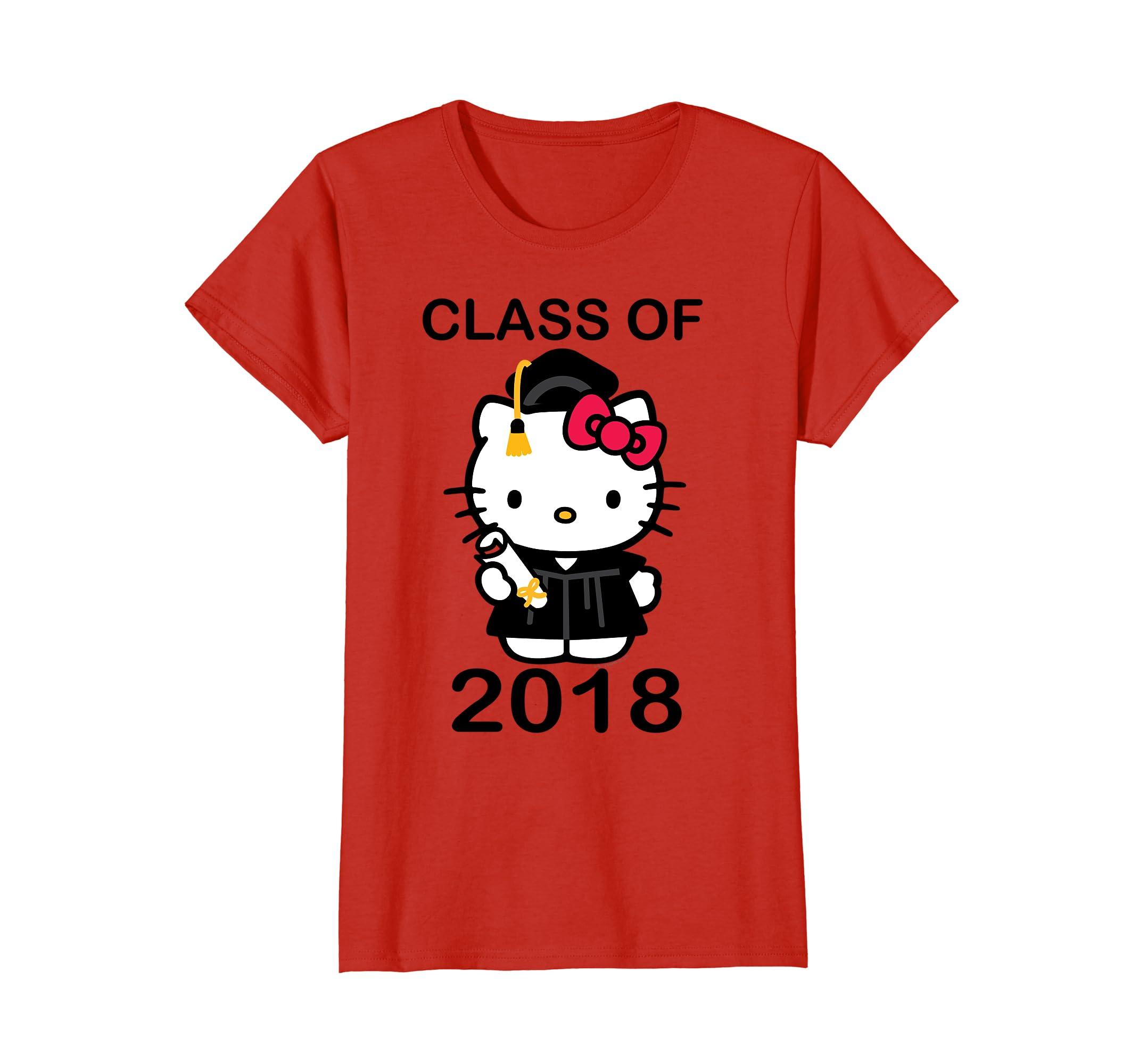 de268d320 Amazon.com: Hello Kitty Graduation Class of 2018 Tee Shirt: Clothing