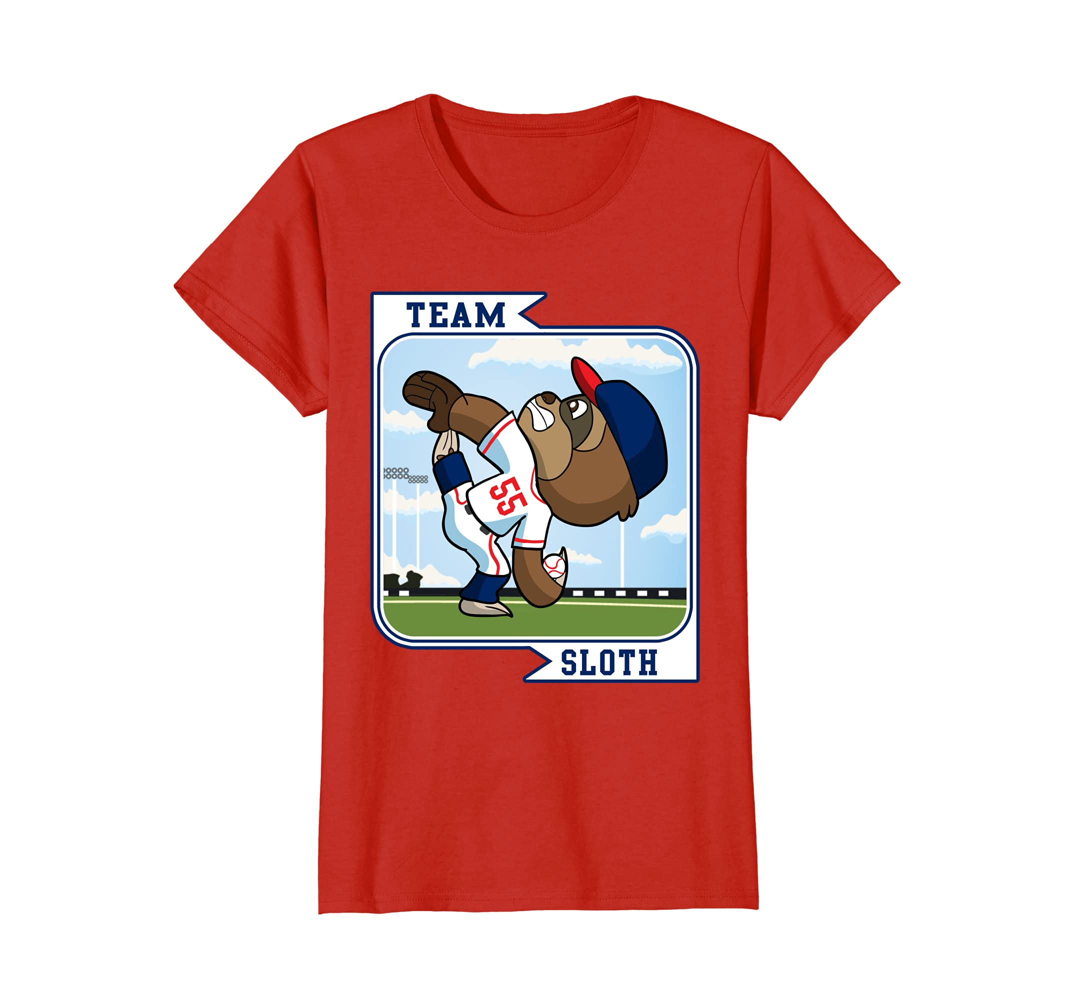 c0b0e59c1 Amazon.com: Sloth T-Shirt Baseball Shirt Gift: Clothing
