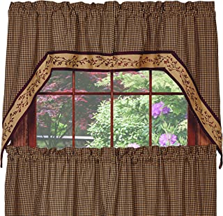 Piper Classics Berry Vine Swag Curtain, 72