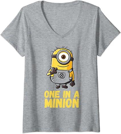 Unisex T-Shirt Oberteil Damen Herren Minions schwarz grau braun Gr S M L XL #103