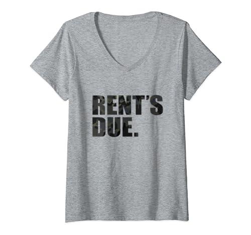 Womens Rents Due Cam Multi Black Tactical Birthday Gift Men Women V Neck T Shirt