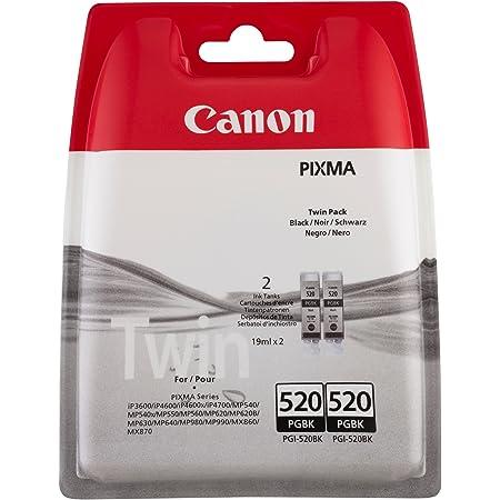 Canon Tintenpatrone Pgi 520bk Doppelpack Schwarz 19 Ml Original Für Tintenstrahldrucker Bürobedarf Schreibwaren