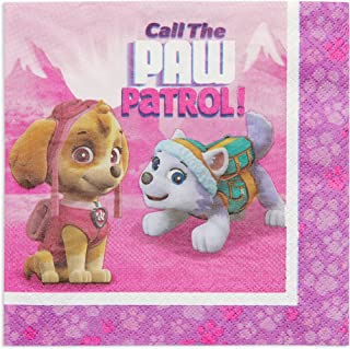 amscan Pink Paw Patrol Girl Party Supplies Lunch Napkins (16)