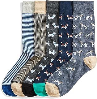 Amazon Brand - Goodthreads Men`s 5-Pack Patterned Socks