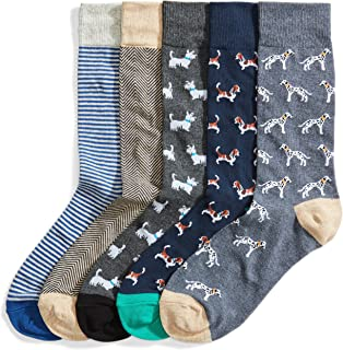 Goodthreads Men's Standard 5-Pack Patterned Sock Set