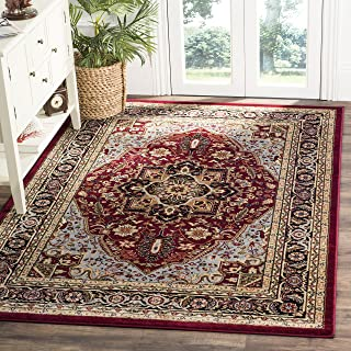 Safavieh Lyndhurst Collection LNH330B Traditional Oriental Medallion Red and Black Rectangle Area Rug (8'11