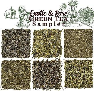Solstice Exotic and Rare Green Tea Loose Leaf Tea Sampler Assortment (6-Variety), Dragon Well, Gunpowder, Sencha, Yunnan, ...
