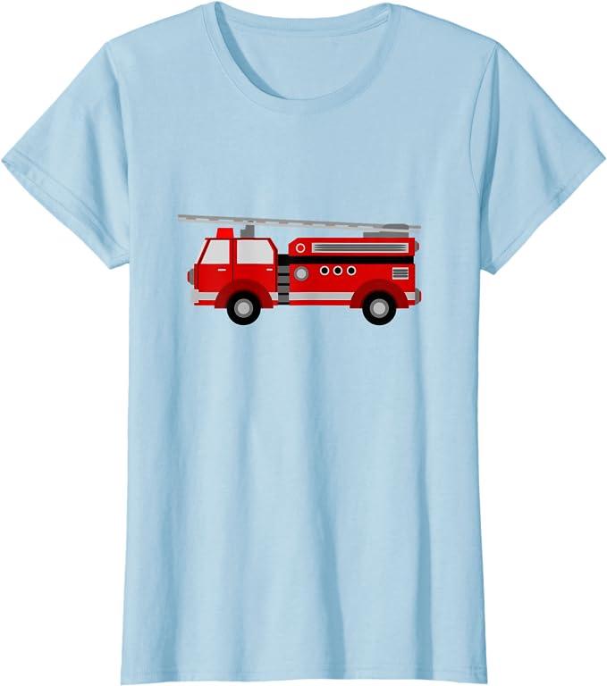 Off Shoulder Firetruck Christmas Sweatshirt Xmas Firefighter Gifts.