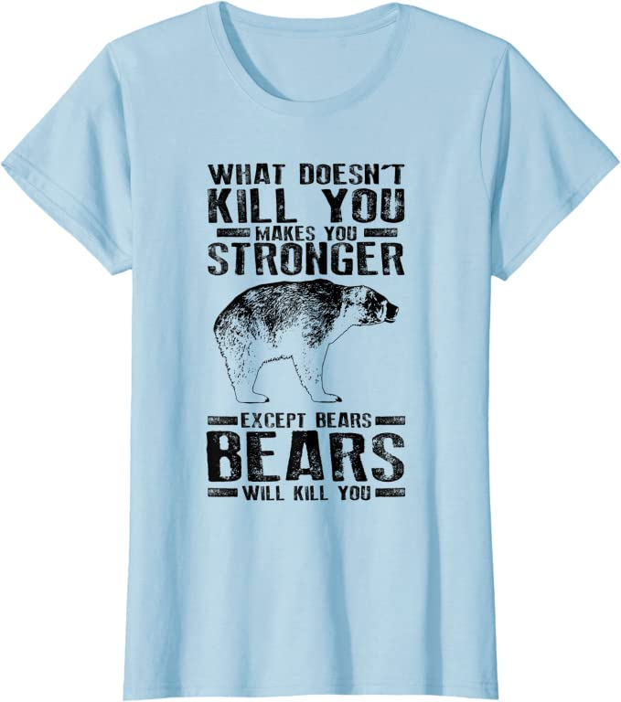 2021 Gift For What Doesn/'t Kill You Makes You Stronger Except Bears Bears Will Kill You Funny Fans Lover Unisex Sleeve V Neck Tank Top Kid