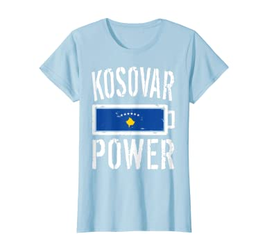 Amazon.com: Camiseta de la bandera de Kosovo con batería de ...
