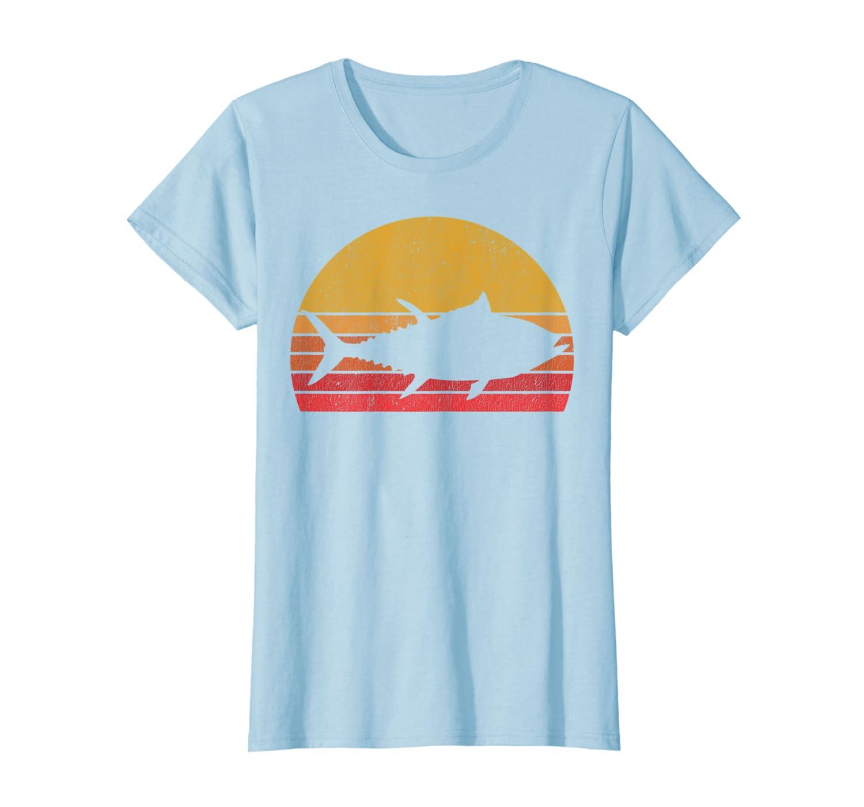 Tuna Fishing Retro Sunset Bluefin Tuna Fisherman Gift T-Shirt SweatShirt