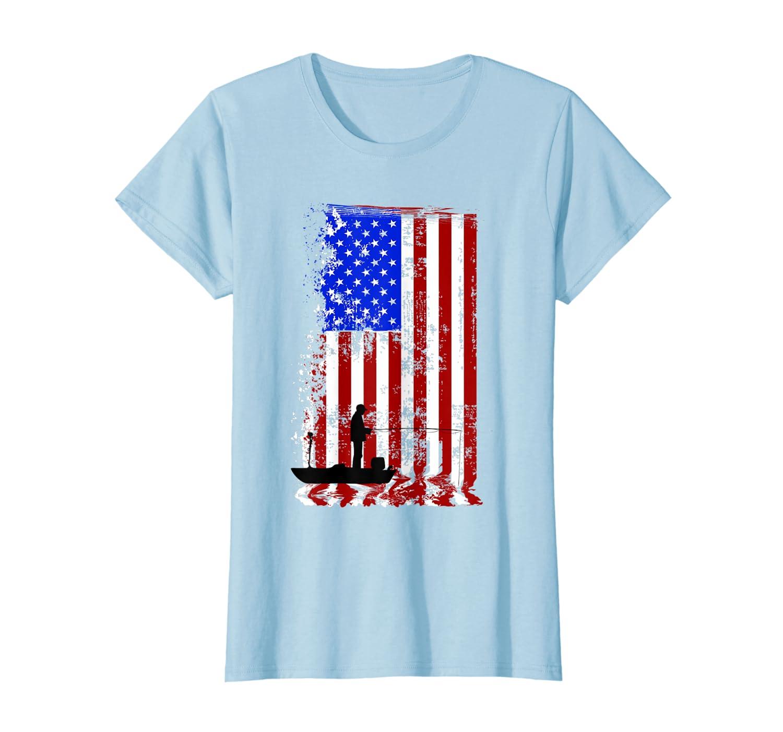 FISHING American Flag T-Shirt  USA Fishersman Boat Shirt SweatShirt