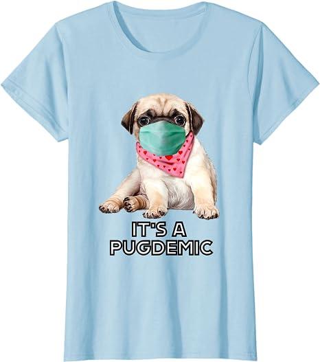 Pug King Of The Street With Hat Funny Dog Famliy Tee Shirt
