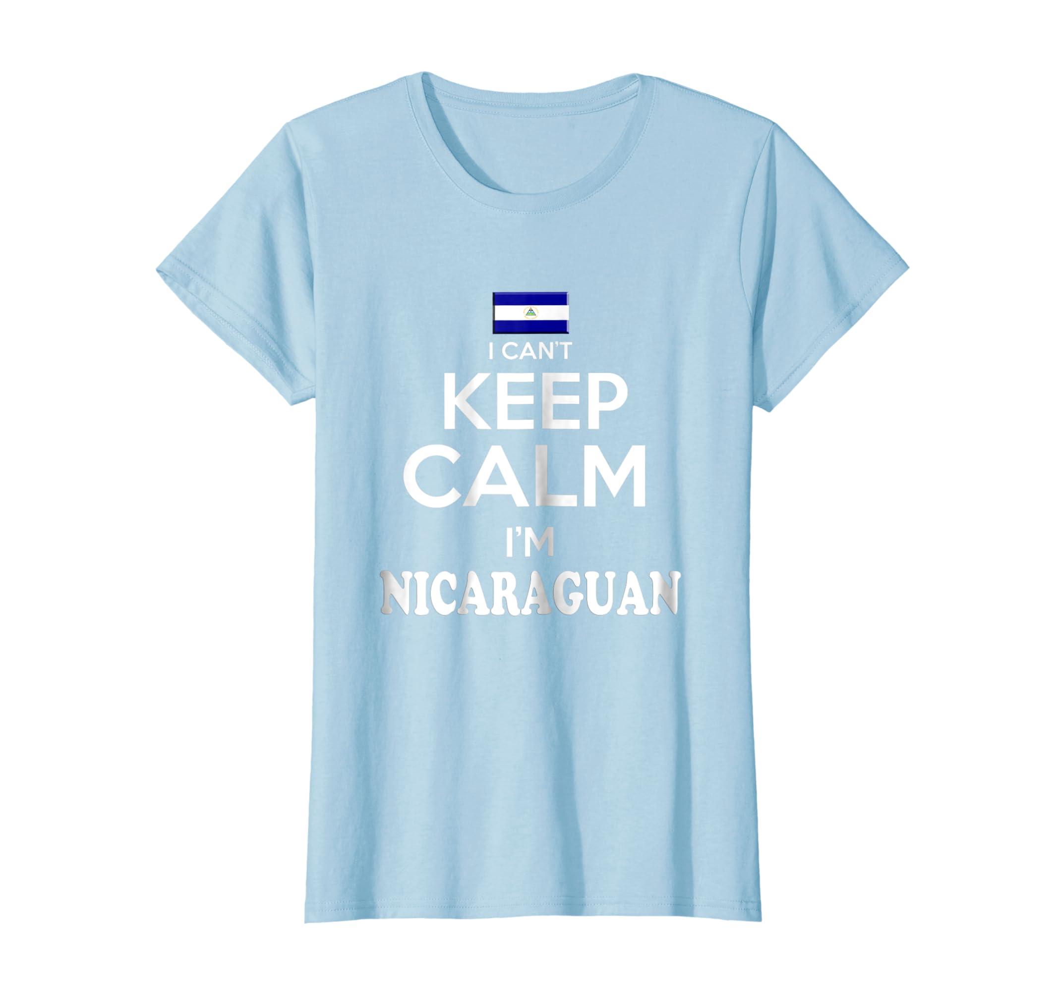 Amazon.com: Nicaragua I Cant Keep Calm Camiseta Nicaraguan Unisex tshirt: Clothing