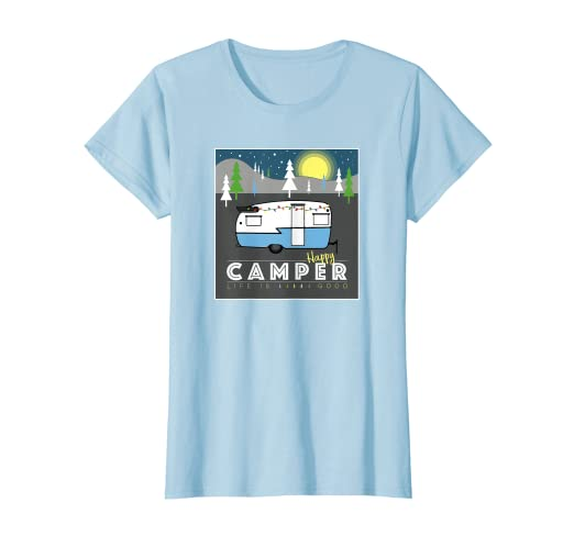 c0eb4aee665 Image Unavailable. Image not available for. Color  Womens Happy Camper Life  is Good ...