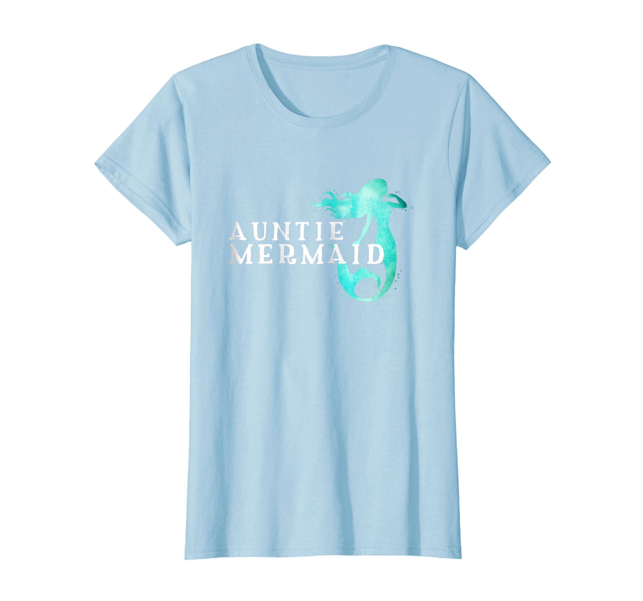 3f027783b Amazon.com: Womens Auntie Mermaid T shirt, Awsome tee, Amazing tee, Cute tee:  Clothing