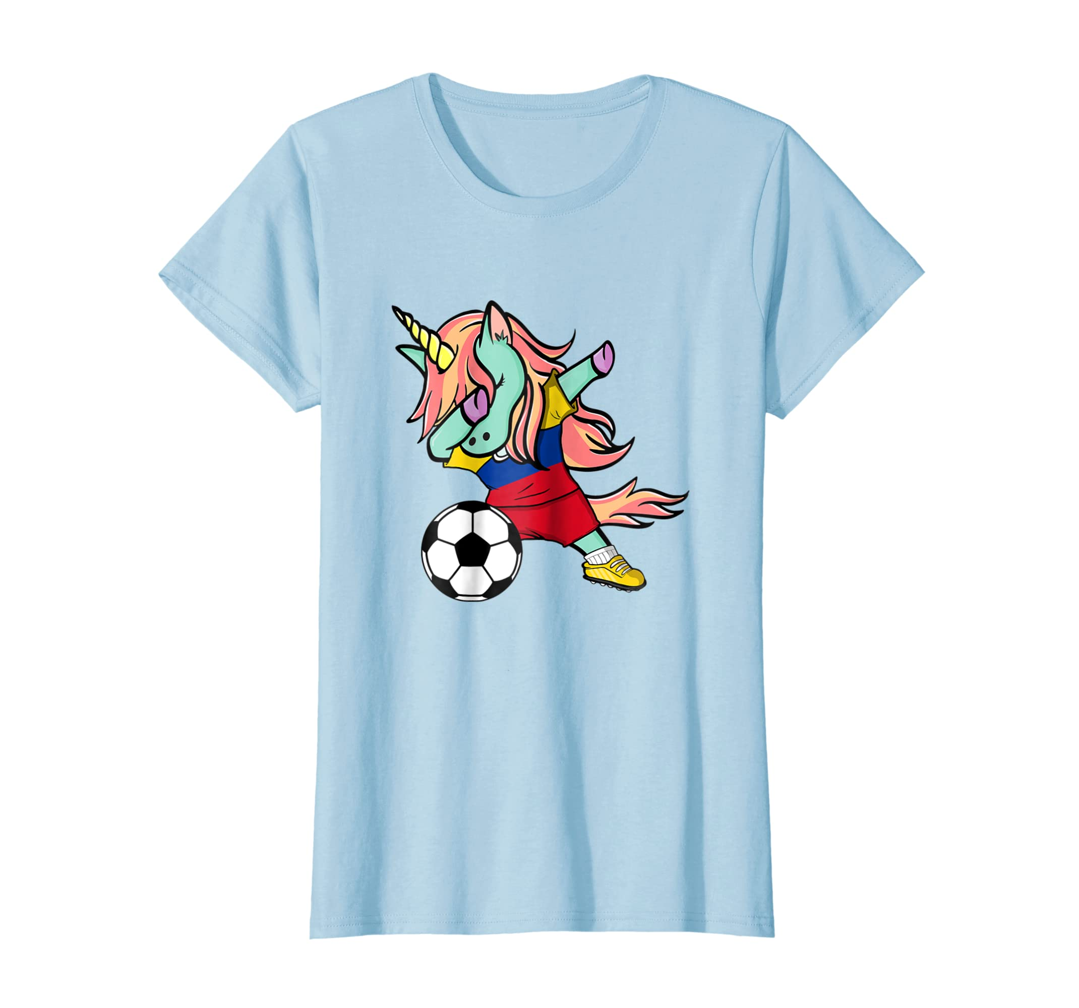 ab2effadd5a Amazon.com: Dabbing Unicorn Soccer Colombia Jersey Shirt 2018 Football:  Clothing